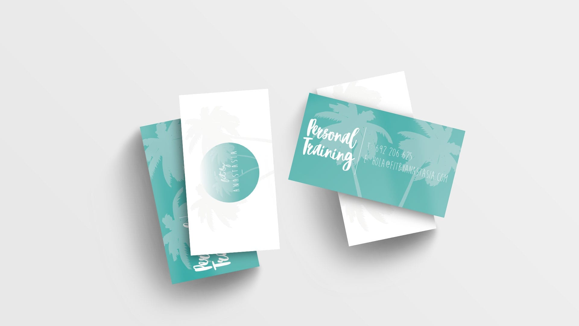logo design on business cards mockup