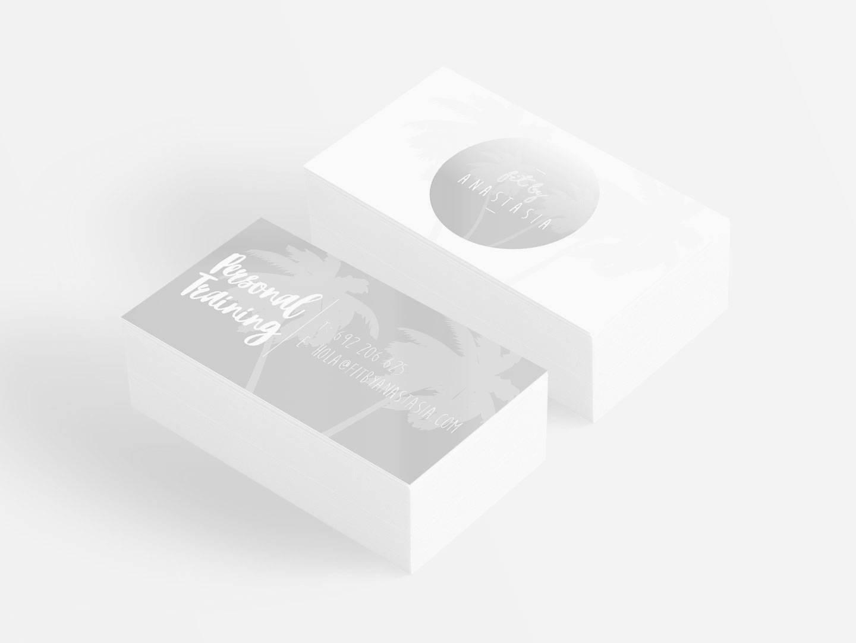 logo design on business cards mockup 2