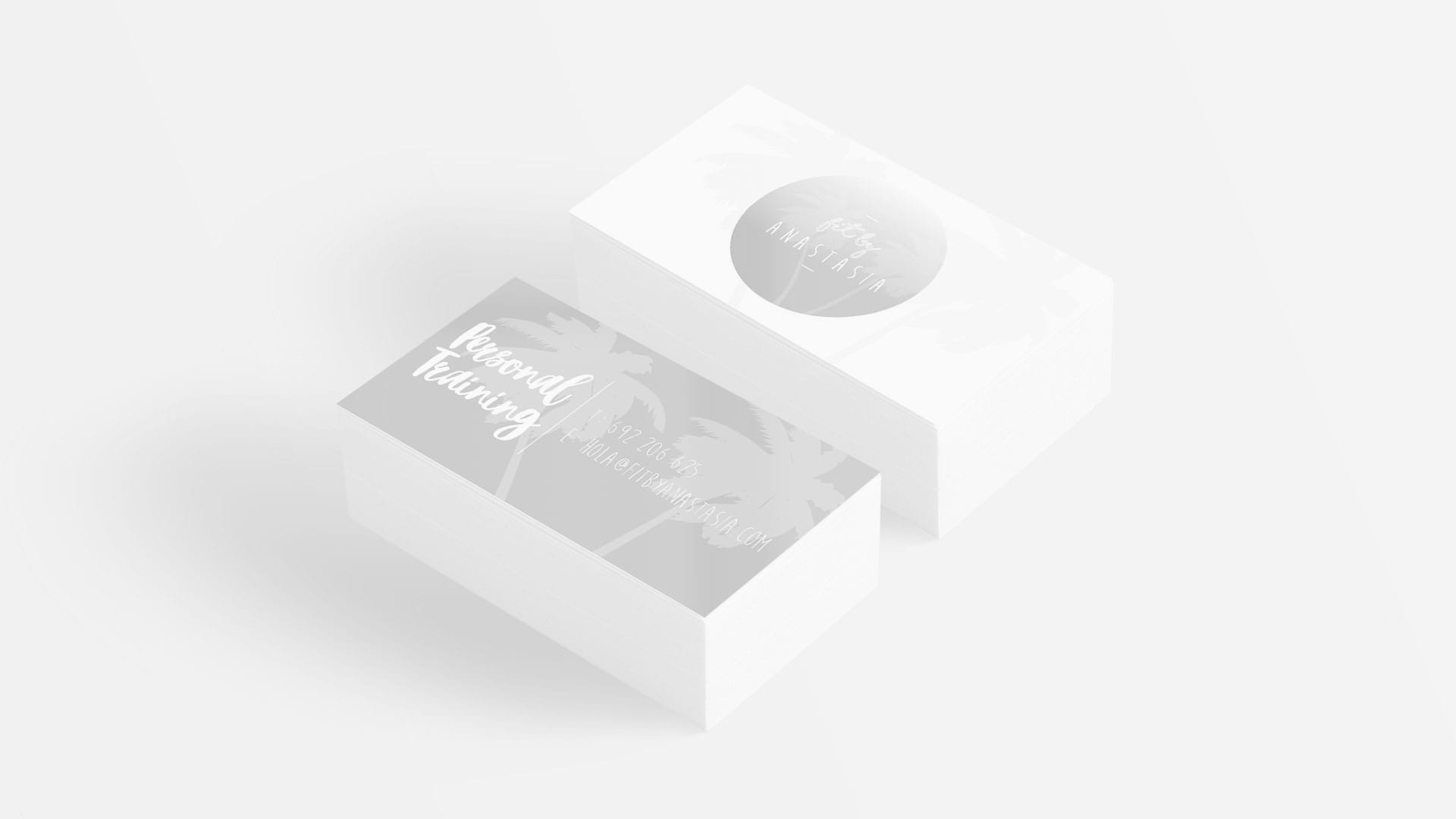 logo design on business cards mockup 2