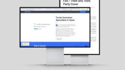 insurance mockup of website design