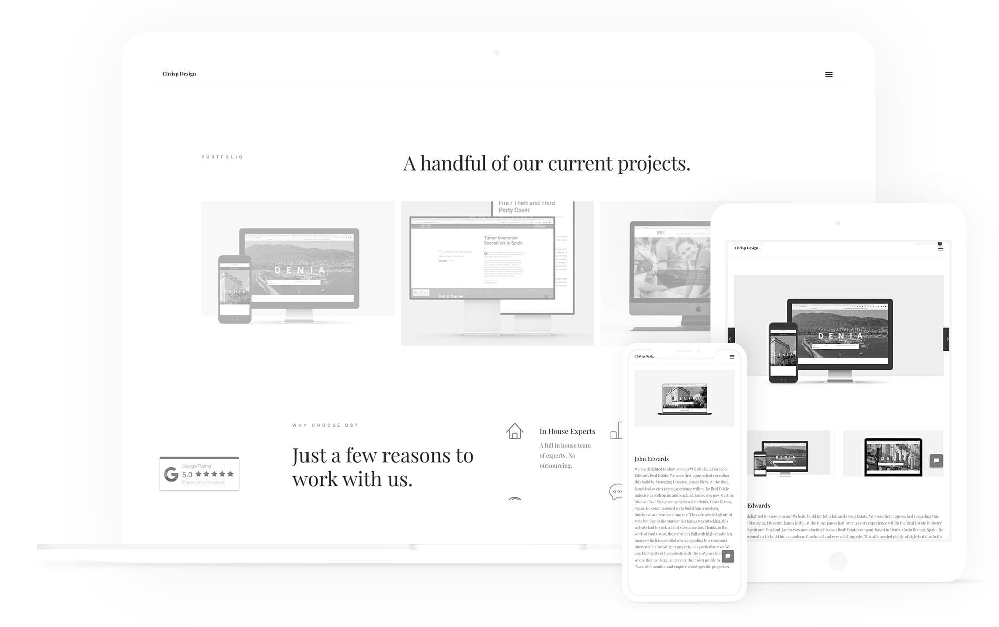 website mockup responsive design