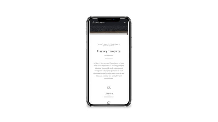 mobile responsive website for lawyers