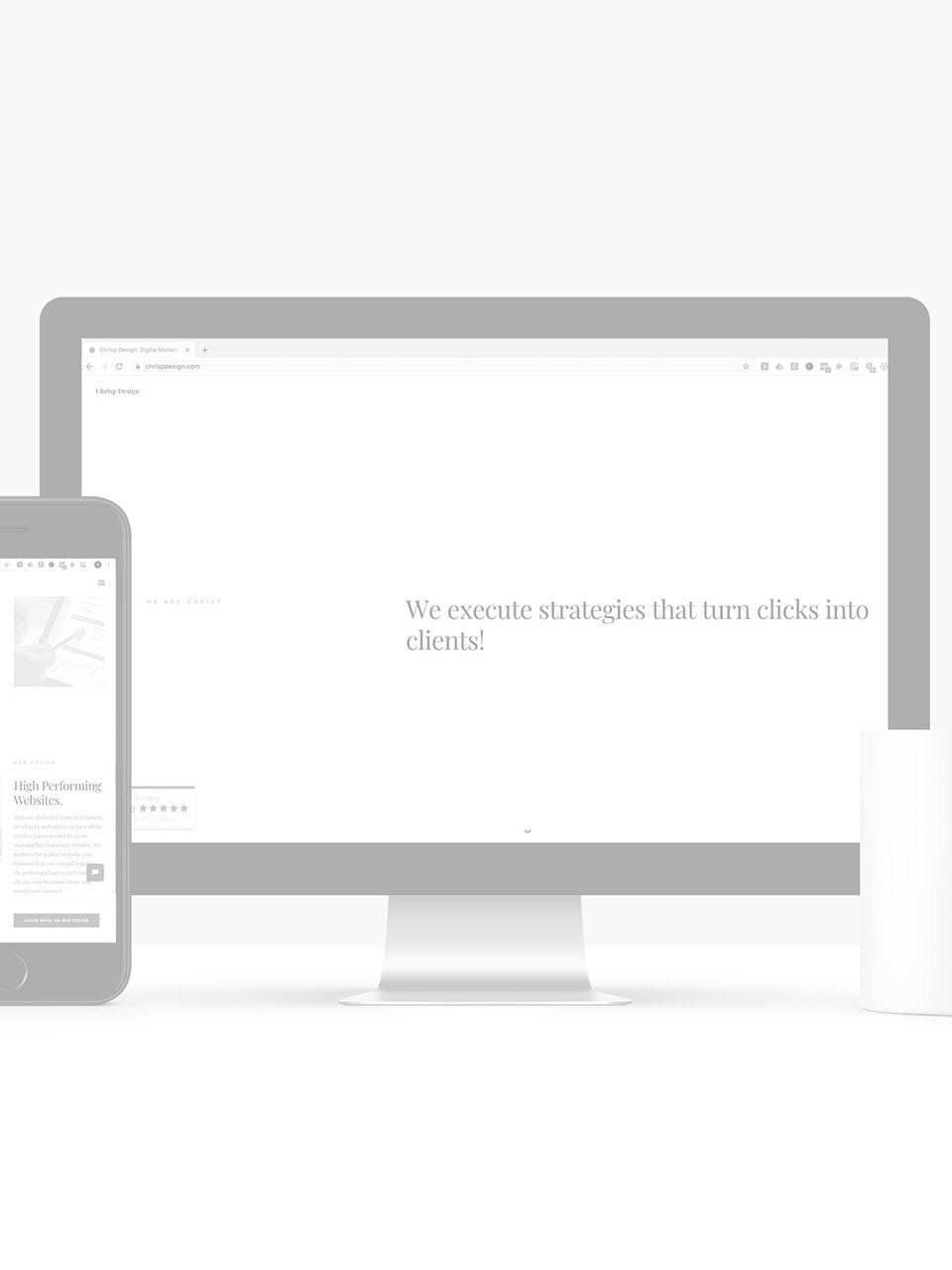 mock up to show tips on website design